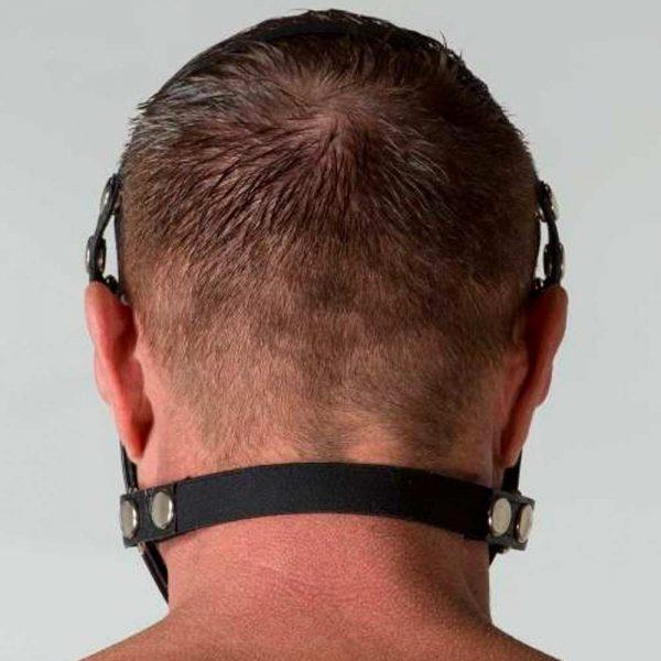 Leren mond kap - Mouth Restrictor achterkant