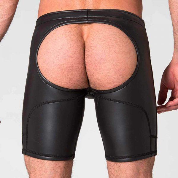 Neoprene Broek - Neo Open Long Shorts - achterkant zwart