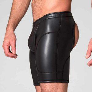 Neoprene Broek - Neo Open Long Shorts - zijkant zwart