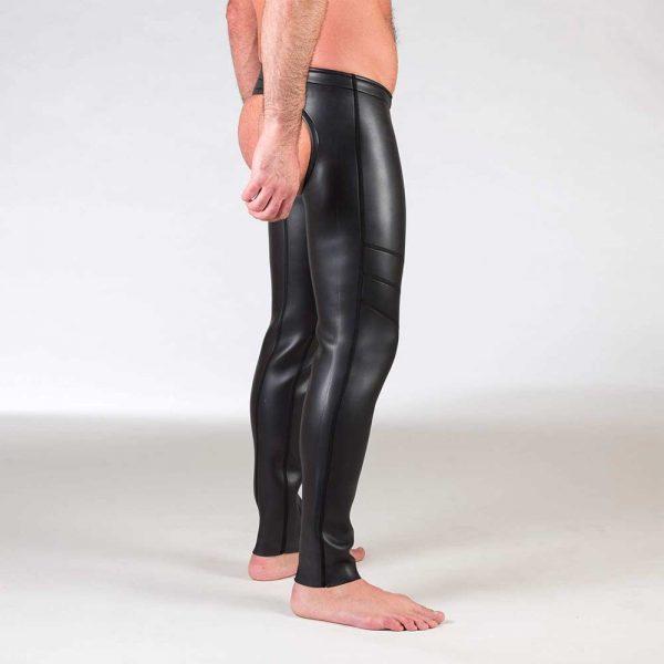 Neoprene Broek - Open Ass Pants - Zwart zijkant