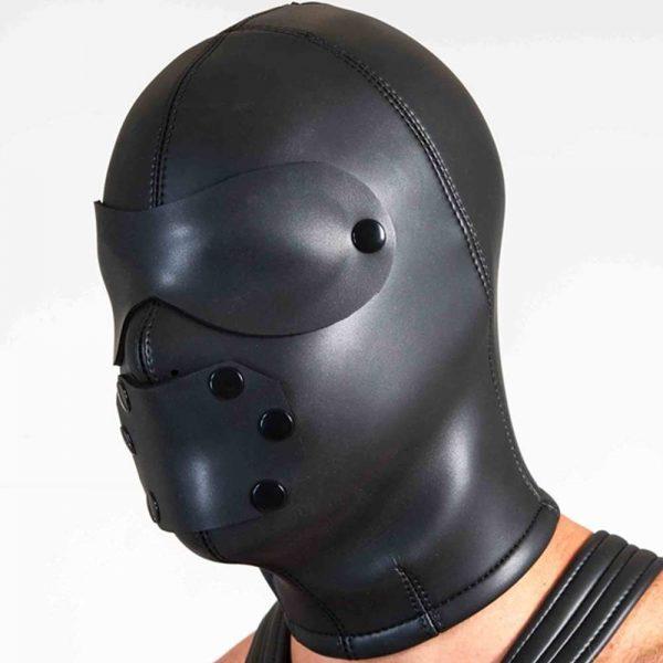 Neoprene Masker - Compleet gesloten neoprene masker zijkant