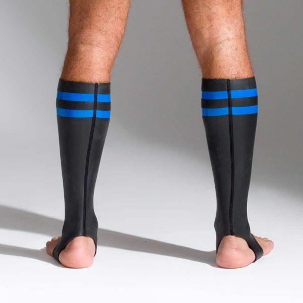 Neoprene sokken met kleurcode blauw achterkant
