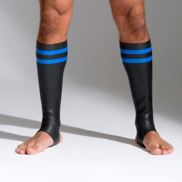 Neoprene sokken met kleurcode blauw voorkant