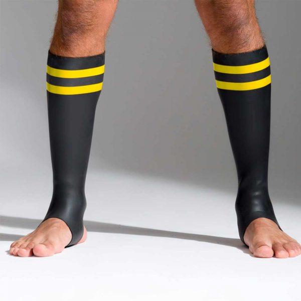 Neoprene sokken met kleurcode geel voorkant
