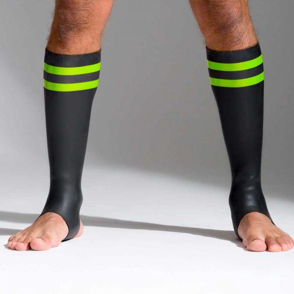 Neoprene sokken met kleurcode groen voorkant