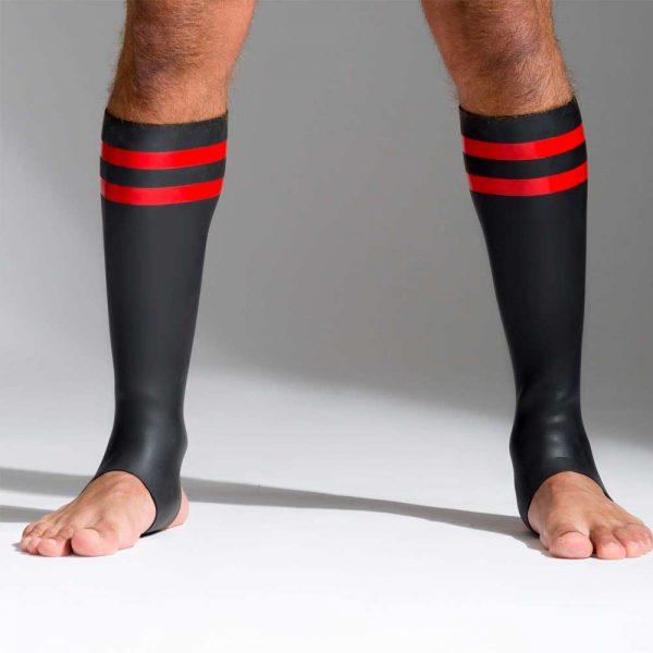 Neoprene sokken met kleurcode rood voorkant