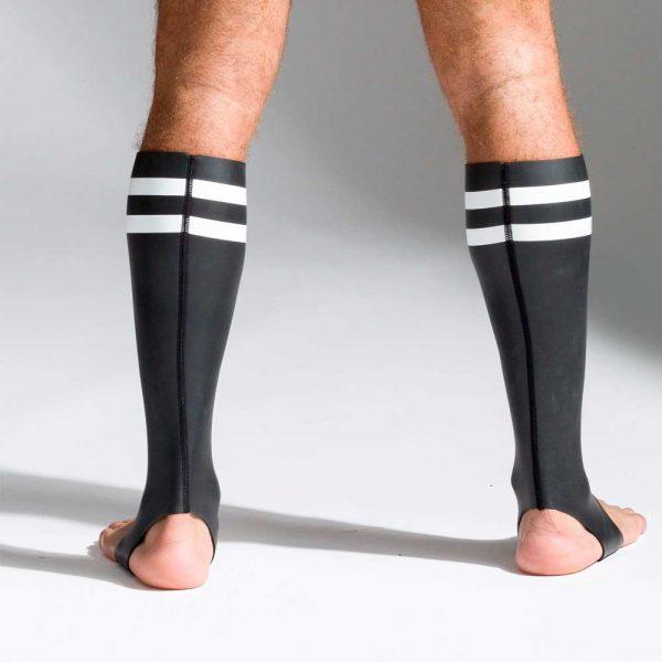Neoprene sokken met kleurcode wit achterkant