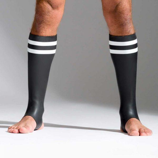 Neoprene sokken met kleurcode wit voorkant
