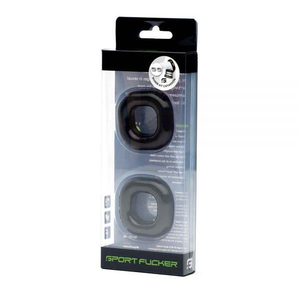Penisring - Boner TPR Expansion Pack verpakking zwart
