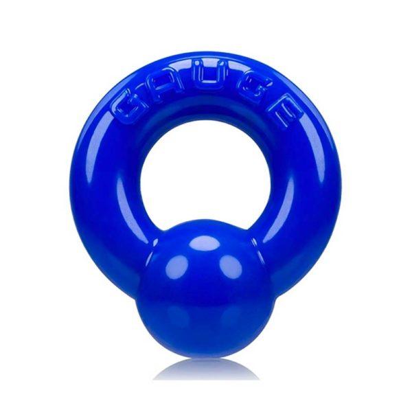 Penisring - Gauge penisring voorkant blauw