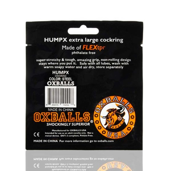 Penisring - Oxballs HumpX TPR penisring verpakking achterkant grijs