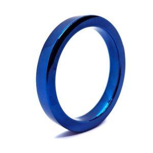 Penisring - Platte blauwe penisring zijkant