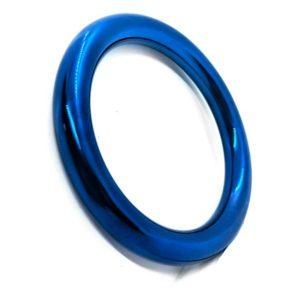Penisring - Ronde blauwe penisring zijkant