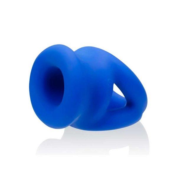 Penisring - Tri-Squeeze Stretch Sling penisring zijkant blauw